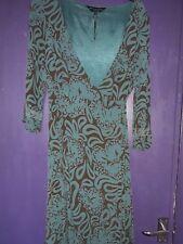 NOA NOA WRAP DRESS BROWN/GREEN SIZE SMALL