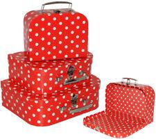 """/""""points-Rouge /& Blanc/"""" Enfants valise//valise-En 3 Tailles! Idéal pour créateurs"""