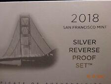 2018-S U.S. Silver Reverse Proof Set, 10-Coins in OMP w/COA