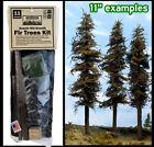 "Model Fir Trees KIT, 3 TREES, ea 11"" Tall great DETAIL USAmade HO N O S FREESHIP"