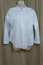 NYJD Top Sz Xl Optic White Solid Buttoned Down Long Sleeve Business Casual Top