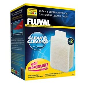 Fluval U Clean & Clear Cartridge Filter Media *2 Pack* U1 U2 U3 U4 Genuine
