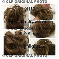 Bun Hairpiece Synthetic Scunchies, Natural Cover Hair Extension. Curly Messy Bun