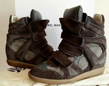 AUTHENTIC ISABEL MARANT CALF SUEDE BEKETT WEDGE BOOTS SIZE 39 RRP $890