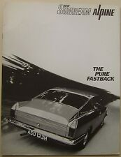 Sunbeam Alpine Fastback Original large format UK Sales Brochure No 6008/H 1970
