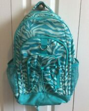 Pottery Barn Teen Large Backpack Teal Zebra Print No Monogram