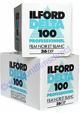 2 x ILFORD DELTA 100 35mm 36 exp CHEAP B&W CAMERA FILM by 1st CLASS POST