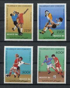 s5964) COMORES 1986 MNH** World Cup Football'86 - CM Calcio 4v.