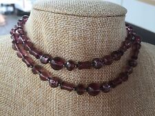 HDMD by Cyndi Necklace of Medium Purple Glass Beads with Black Metal Spacers