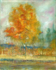 Autumn Day in Central New York 10 x 8 in. Oil on canvas Hall Groat Sr.