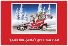 20 CHRISTMAS Holiday Greeting Santa's HOT ROD Post Cards POSTCARDS 6X4