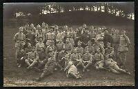 WW1 SOLDIERS MEDAL RECIPIENTS DIFFERENT CORPS REGIMENTS ANTIQUE PHOTO POSTCARD