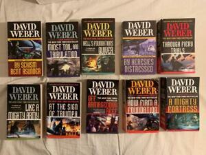 Lot 10 COMPLETE Safehold Series 1-9 David Weber Paperback