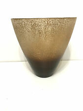 Sandy Frosted & Gold Foil Glass Vase