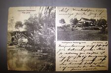 antique postcard soekaboemi sukabumi Indonesia dutch colony victoria hotel photo