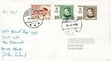 Polarpost: Niederl. Grönland-Expedition - Scoresbysund 1974 - Signaturen