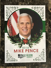 Mike Pence 2020 Decision Holiday Factory Set Insert GREEN FOIL #6 VP 2/10