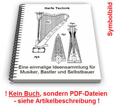 Harfe selbst bauen - Harfen Saiteninstrumente Technik Patente Patentschriften