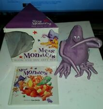 BRAND NEW MESS MONSTERS BOOK TOY GIFT SET PURPLE MONSTER SHOSHAN PIERS HARPER