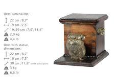 Griffon Bruxellois, dog urn made of cold cast bronze, ArtDog,Usa-kind2