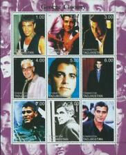 George Clooney su Francobolli - 9 Francobollo Foglio