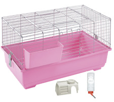 PINK Indoor 80cm Rabbit/Guinea Pig Cage WITH ACCESSORY KIT- FREE DELIVERY!