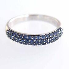 Beautiful Estate 14k Solid WG EffyGemma 1.04 ct Blue Sapphire Ring Size 7.5