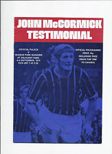 Crystal Palace v QPR 3 September 1974 Friendly John McCormick Testimonial
