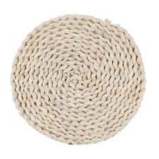 Braided Rattan Straw Weave Round Placemat Tablemat Dinner Mat Pad Kitchen