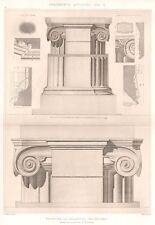 19 ~ MACDEDONIA PALACE Greece IONIC COLUMNS ~ 1905 Greek Architecture Art Print