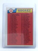 1983-1984 1-132 Checklist List de Controle #134 OPC O-Pee-Chee Hockey Card H709