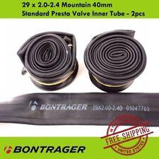 """Bontrager 29"""" x 2.0-2.4 40mm Standard Presta Valve Inner Tube MTB Bike - 2pcs"""