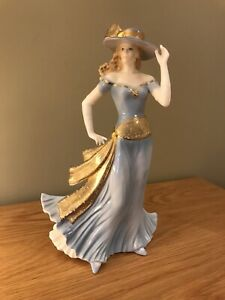 Vintage Royal Worcester Tea At The Ritz - High Society - Lady Figurine Statue