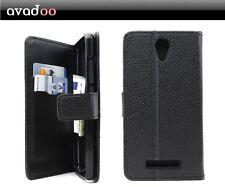 avadoo® Archos 50e Neon Flip Case Cover in Schwarz vernäht Tasche Hülle