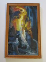 MARINO VERGARA OCHOA  MID CENTURY OIL PAINTING ABSTRACT  MODERNISM EXPRESSIONIST