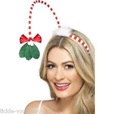 Women's Ladies Christmas Mistletoe Kisses Hand Band Hat Festive Xmas Party Fun