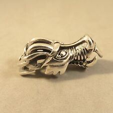 .925 Sterling Silver HEAVY DETAILED DRAGON HEAD/FACE Pendant NEW 925 RB06