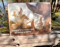 John Wayne Courage Vintage Metal Tin Sign Wall Decor Garage Man Cave Home Rustic