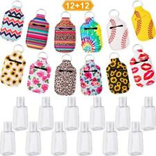Keychain Holder Travel Bottle Refillable And Reusable Containers 30ML Flip Cap