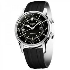Longines L36744509 / L3.6.744.5.09 Heritage Legend Diver Men Black Rubber Watch