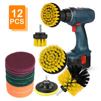 12PCS Drill Brush Power Scrubber Drill Attachment For Carpet Tile Grout Cleaning