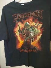 Megadeth T Shirt Mens 2XL Dystopia Tour 2017 Black Double Sided