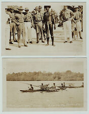RARE - 2 Real Photos WWI - Admiralty Islands New Guinea - Natives - RPPC 1914