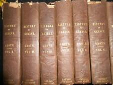 The History of Greece by George Grote - 1849 (12 Volume Set) Greek/Legends, RARE