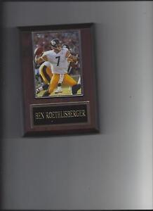 BEN ROETHLISBERGER PLAQUE PITTSBURGH STEELERS FOOTBALL NFL