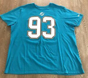 Miami Dolphins Nike T Shirt NFL #93 Ndamukong Suh Mens Size XXL