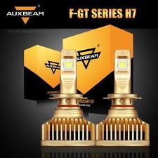 AUXBEAM Pair H7 LED Headlight Kit 90W 9000LM High or Low Bulbs 6500K White Power