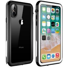 iPhone X Case Dustproof Snowproof IP68 Certified Waterproof Full Body Cover Case