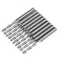 "J4 Set Schaftfraeser Fraeser Hartmetallfraesstifte Werkzeug 10 Stk 1/8"" 2mm"
