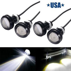 Universal White Eagle Eye LED Fog DRL Daytime Running Light For Car Motorcycle